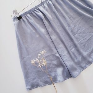 American Eage Outfitters Baby Blue Satin Skirt